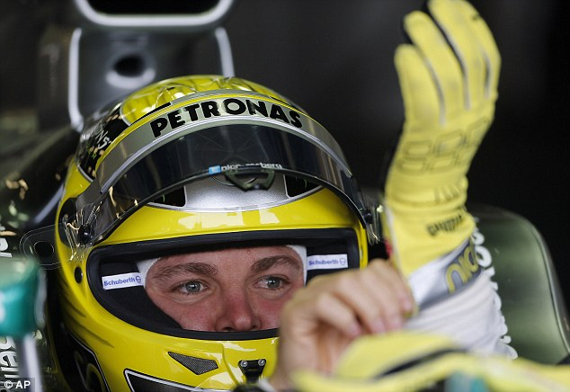 Leading the way: Nico Rosberg topped the timesheets at the end of the final practice session