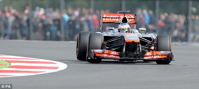 Lowly: Jenson Button will start the race in 10th as McLaren's struggles continued