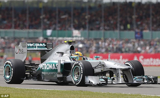 Wait: Hamilton took a swipe at McLaren, saying he finally has a car capable of competing at Silverstone