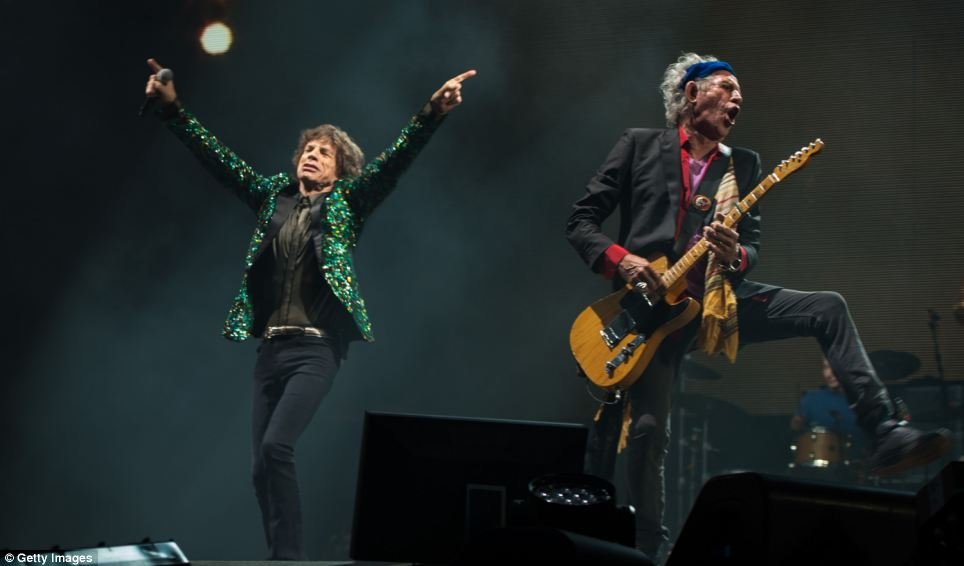 Unprecedented crowds are said to have gathered at the Pyramid stage. It is the Rolling Stones' first Glastonbury performance