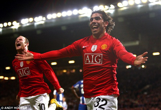 Step up: Tevez was only at West Ham for a season before he moved to Manchester United