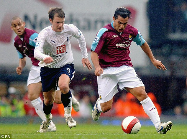 Abroad: Tevez moved to England from South America in 2006 when he joined West Ham