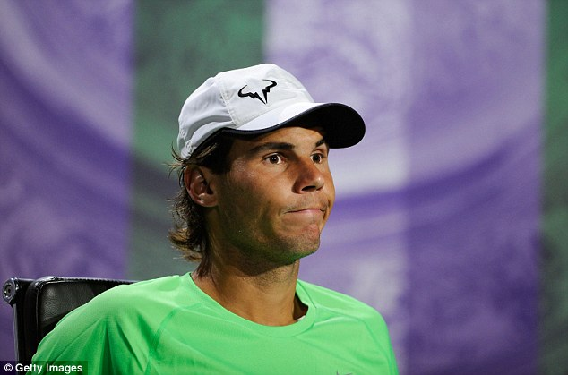 Classy: Rafael Nadal made no excuses for his shock first-round Wimbledon loss to Steve Darcis