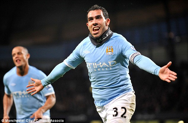 Spell: Tevez spent four years at Manchester City before joining Juventus this week