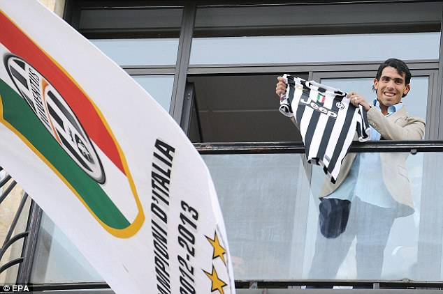 Switch: Carlos Tevez was unveiled as a Juventus player this week after completing his transfer