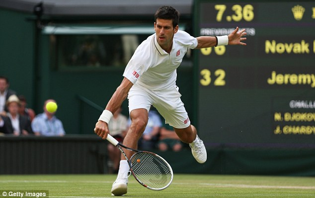 Stunning: Djokovic hit just three unforced errors in a scintillating performance on Centre Court