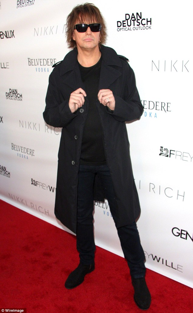 Tour absence: Richie Sambora, shown on Friday at the Genlux magazine release party in Beverly Hills, California, said he believes he'll join Bon Jovi again