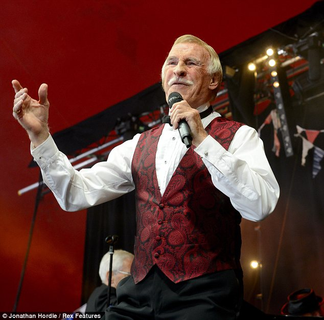 He's still got it! Bruce Forsyth performed on stage at the Glastonbury Festival on Sunday