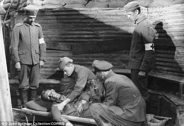 Protest: Goebbels ordered Germans to disrupt screenings of the film All Quiet on the Western Front, above