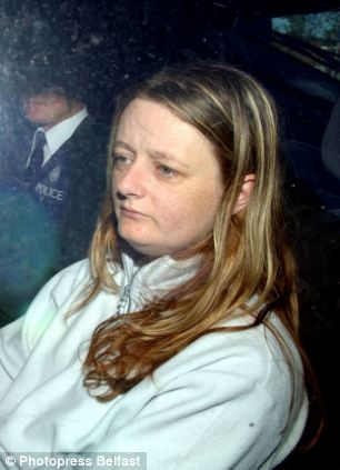 Jailed: Jacqueline Crymble was sentenced to 20 years in jail for murdering her husband Paul with her lover Roger Ferguson