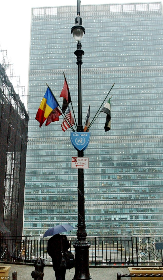 Targeted: The 27-bloc EU offices at the UN building in New York was spied on by the U.S. National Security Agency