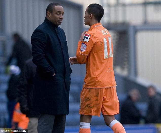 Family ties: Paul Ince (below) believes that his son Thomas wants to stay at Blackpool, despite the accepted bid