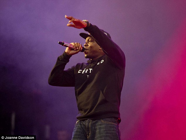 Just a Rascal? Dizzee thrilled the crowds earlier in the festival with his beats and raps