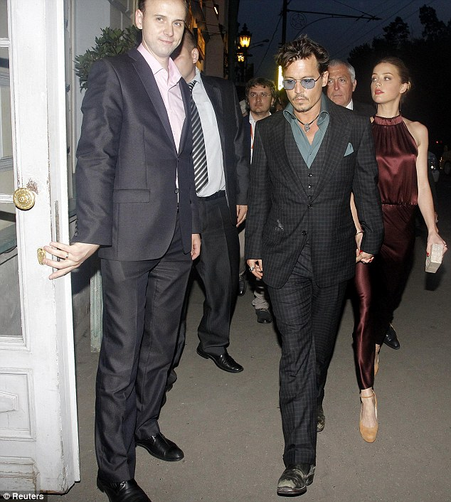 Going public: The couple have remained low key in the wake of Johnny's split with Vanessa Paradis, until last week