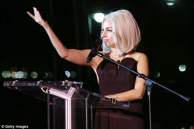 A tearful thank you: Gaga rallied the crowd at the NYC Pride Rally in Manhattan on Friday night