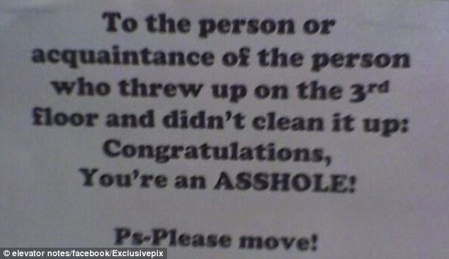 Vent: There is no doubt what the person who posted this message feels about his or her neighbour