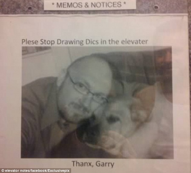Reaching out: Gary decided to post his own face alongside his message, or perhaps someone else did it for a joke