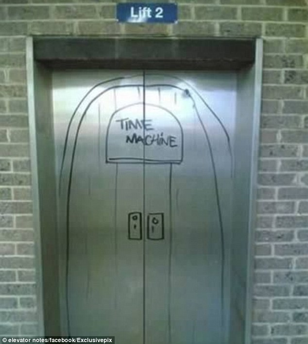 Joker: Some joker decided to make the lift experience just a little bit more exciting for residents in this building