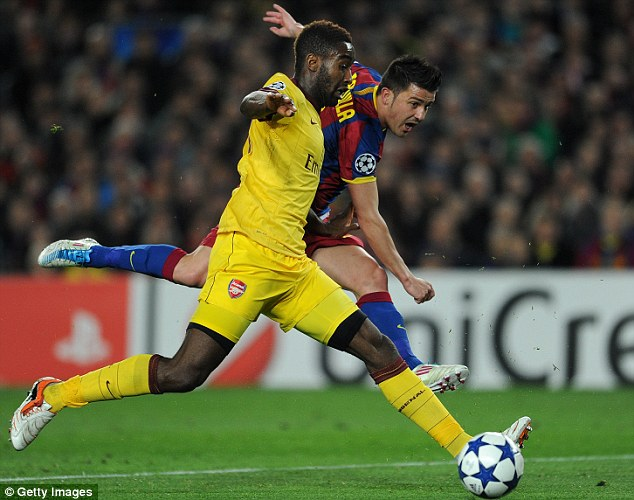 Potential: Djourou impressed in both legs against Barcelona, but could never really build on it