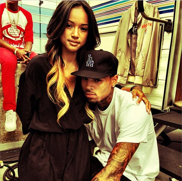Good luck! Karrueche posted a photo on Instagram on Sunday wishing Chris luck at the BET Awards
