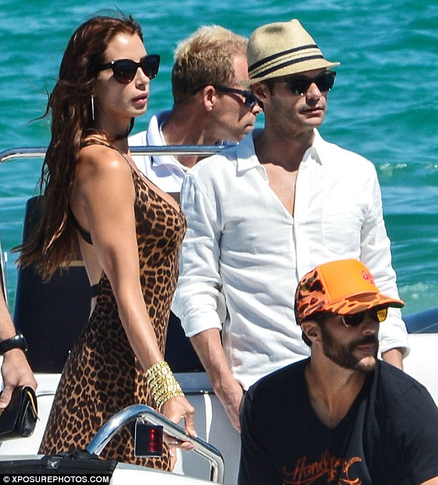 Beach club: Ryan, the mystery woman and his friends were headed to Club 55, the oldest beach club in Saint Tropez