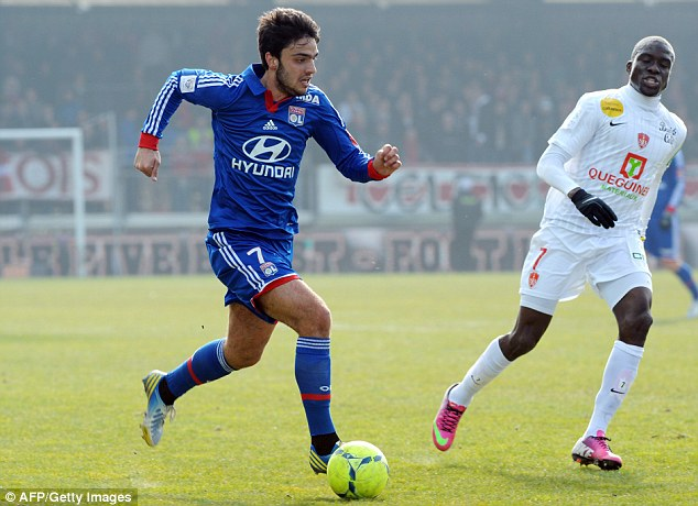 Wanted: Lyon midfielder Clement Grenier has attracted interest from Arsenal and Liverpool