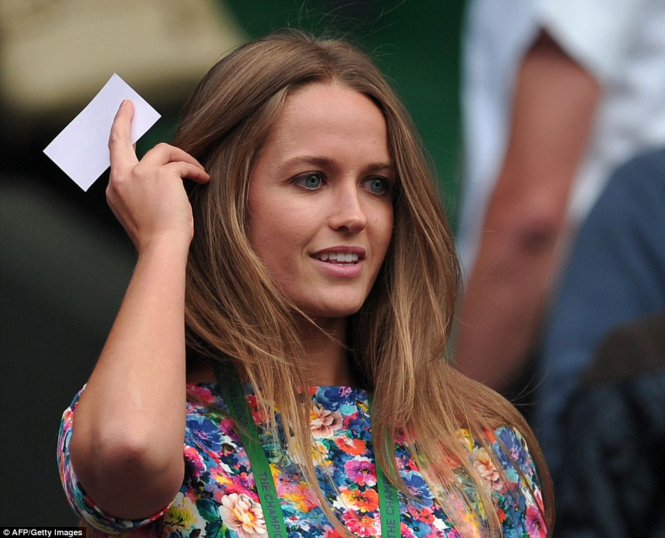 Support: Kim Sears, girlfriend of Britain's Andy Murray, arrives to watch him take on Russia's Mikhail Youzhny during their fourth round men's singles match