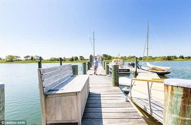 Close to his heart: Mr Koch is an avid yachtsman whose boat won the 1992 America's Cup, so it was vital to him that the dock had room for more than one large boat