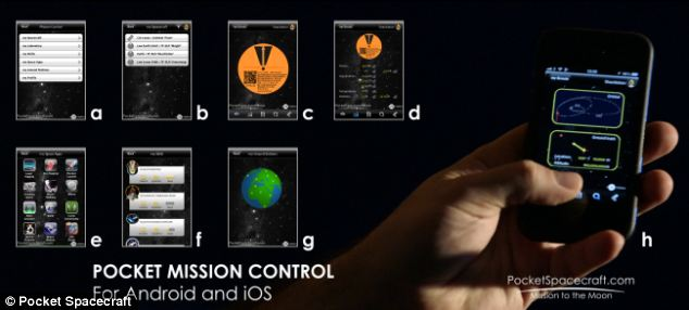Customers will be able to monitor their Scout's progress throughout its ambitious mission to either land back on Earth or the moon with a Pocket Mission Control app