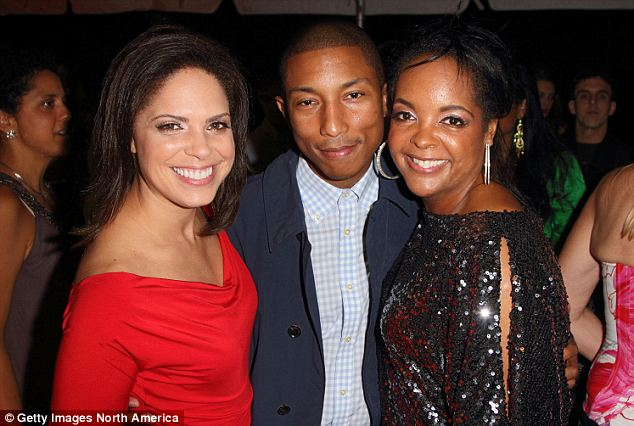 Partnership: O'Brien, seen here with Pharrell Williams, will be working with her friend Kim Bondy (right) who previously served as an executive producer at CNN