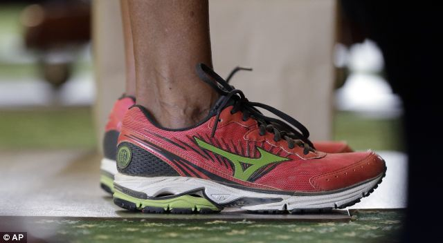 Wendy Davis' secret urine catheter (not shown) and a pair of pink Mizuno sneakers were the secret weapons in her quick rise to pro-choice stardom