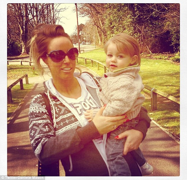 Baby makes four: Danielle with her son Rudy, who turns two in August