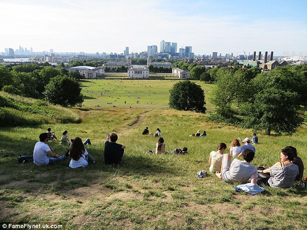 Londoners took to the city's parks to make the most of the hot July weather