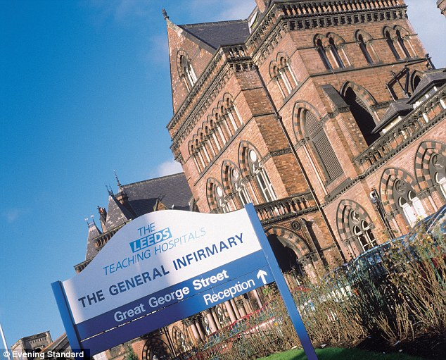 Treatment: The boy was said to be in a stable condition at Leeds General Infirmary in West Yorkshire