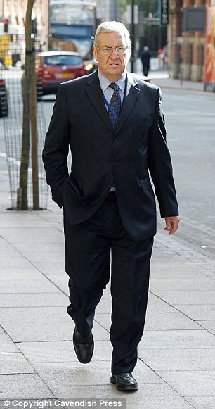 Dr Burley outside the Medical Practitioners' Tribunal Service hearing in Manchester. He had a six-year on-off affair with a patient as he helped care for her terminally-ill husband, it was said