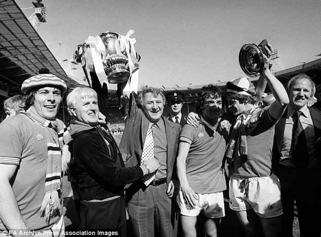 Waiting game: Another FA Cup success but it took Tommy Docherty five years to achieve his