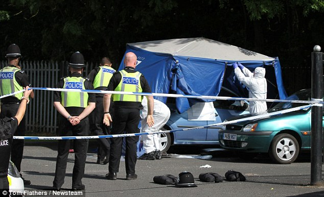 Police are keen to speak to the driver of a blue Renault vehicle who was leaving the car park at the time of the attack