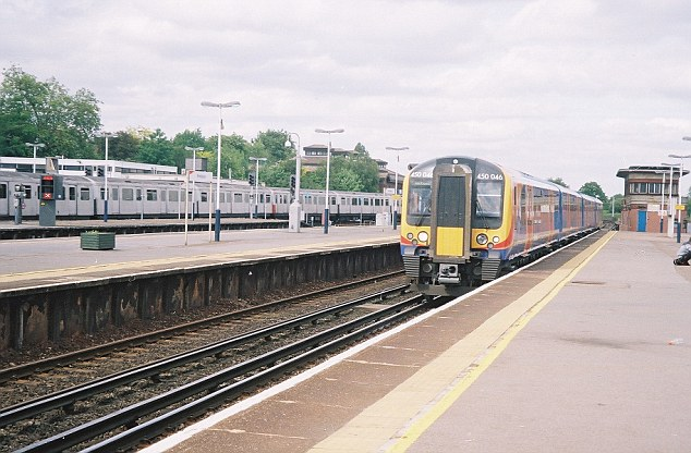 Mr Burdin was filmed pacing up and down the platform at Wimbledon station before he died (file picture)
