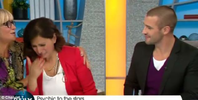 Big news: Co-presenter Sally Obermeder cries after Sally Morgan predicts that she will adopt a baby