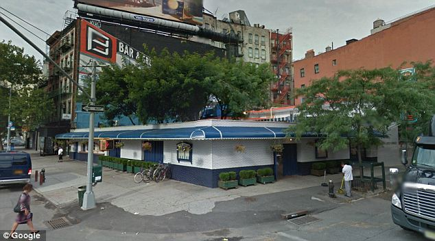 Hotspot: The night in question took place in 1995 when New York's BBar (seen above) was known as Bowery Bar