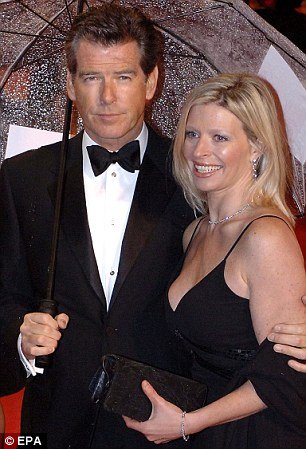 Devastated: Pierce with his daughter in 2006