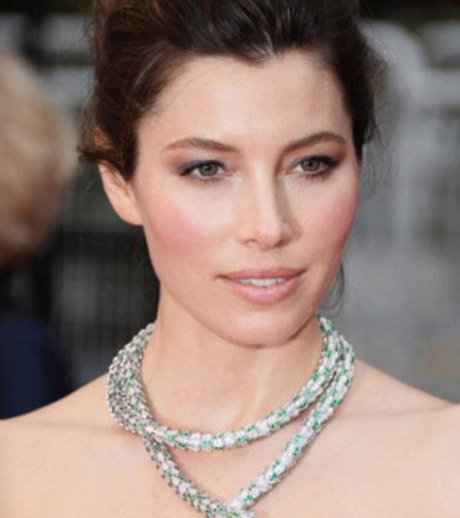 Lisa Eldridge originally created the look for Jessica Biel for the Cannes Film Festival