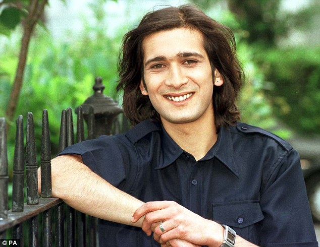 Soap star: Mistry back in his EastEnders days as Dr Frederico