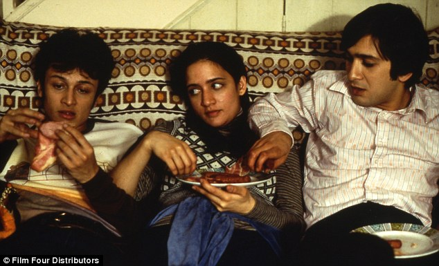 Early days: Mistry (right) in the role that first brought him to attention, in 1999's East Is East