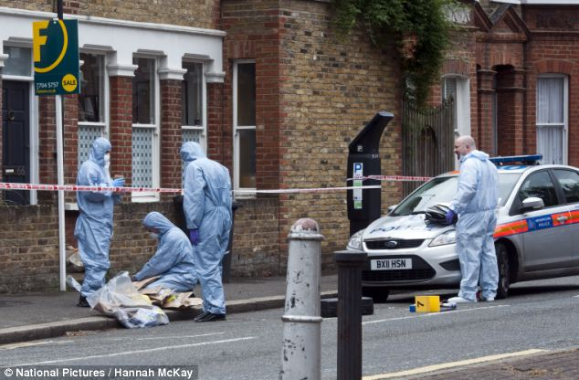 Before forensics teams arrived witnesses described seeing armed police swarming around the house