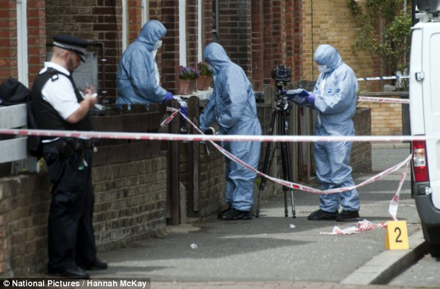 The housing workers are in hospital in a serious but stable condition, the Metropolitan Police said