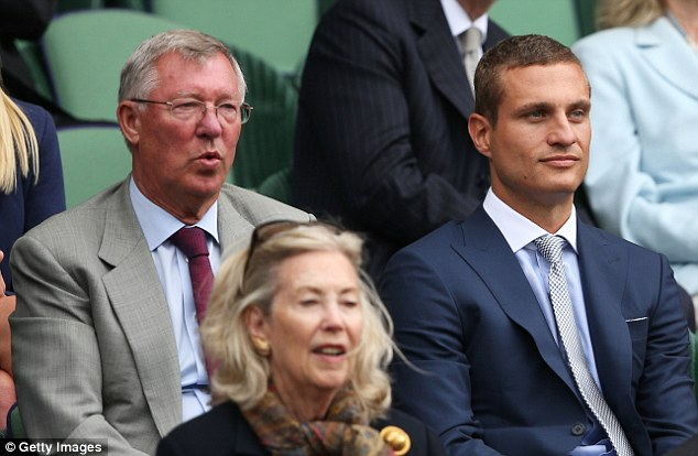 Famous faces: Sir Alex Ferguson was with his former defender Nemanja Vidic to watch his fellow Scot
