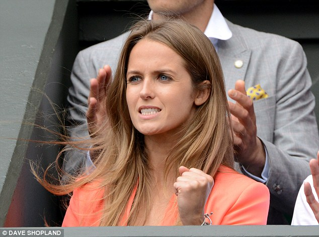 Glamour: Murray's girlfriend Kim Sears went through a rollercoaster of emotions as she watched the match
