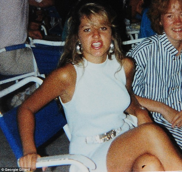 No innocent: Melissa Kite, 15, at a party in 1987