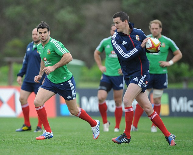 Playmakers: Mike Phillips (left) will look to feed quick ball to Jonathan Sexton (right) in Sydney